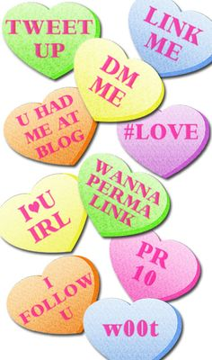Valentine Hearts for Social Media Lovers. #socialmedia #valentinesday