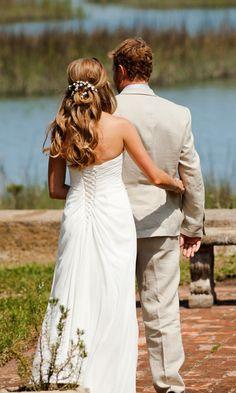 bridesmaid hair, bride hair