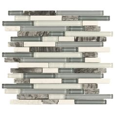 Bliss Waterfall Glass Stone Linear Blend Mosaic Tile-fireplace surround tile