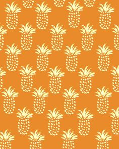 #Pineapple Print II. #pattern #illustration
