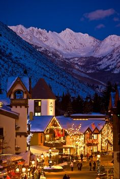 Town of Vail Colorado - visited 1982 & 1983. Beautiful!!