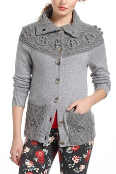 Cablepom Cardigan #anthropologie