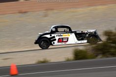 Bret Voelkel's '33 Ford Coupe on the track at the 2013 #OUSCI