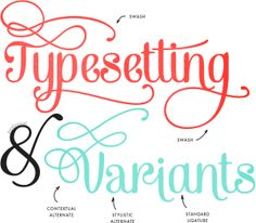 How to access font variants