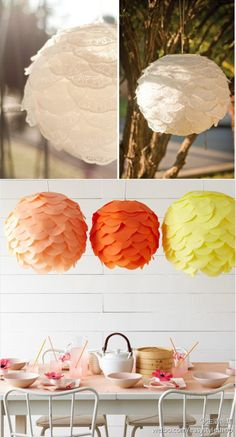Doilies and tissue paper