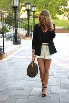 lace shorts.blazer.louis