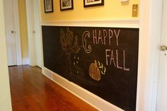 lower half of a room with the chalkboard paint