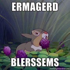 ERMAGERD BLERSSEMS