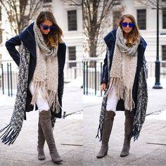 Zara Scarf, Browns Boots, Zara Jeans, Zara Scarf, Bcbg Coat, Etnia Barcelona Sunglasses