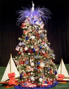 4th of july tree, love this idea.