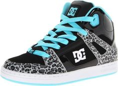 """Adidas Shoes High Tops For Girls DC Rebound SE Skate Sneaker (Little Kid/Big Kid)                                 Leather                    Rubber sole                    Shaft measures approximately 3.5"""" from arch                    They're sure to command attention in this bold high-top from DC."""