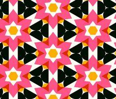 patterns retro flowers