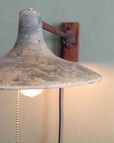I love the style of this lamp! Vintage Industrial Wall Sconce Lamp Modern by LumberingBehemoth