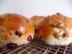 Cranberry-Walnut Rolls from the Brown-Eyed Baker-great recipes for aspiring bread bakers like me. :)