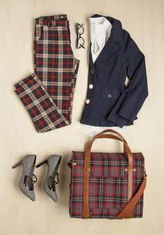 There's no time like fall to layer it up, and play with plaid.