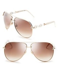 Gucci Chain Link Aviator Sunglasses