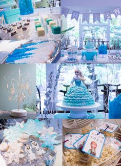 Frozen Birthday Party Ideas, from banners to candy to cake.