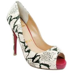 Christian Louboutin Peep Toe Pumps Serpentine Red $158.00  http://www.louboutinsbuying.com/sale/Christian-Louboutin-Peep-Toe-Pumps-Serpentine-Red--1557.html