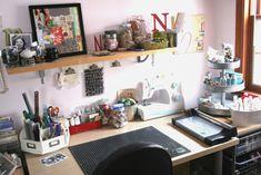craft space, scrapbook supplies, craft supplies, scrapbooking rooms, organizing crafts, craft desk, craft room, crafti space, organ craft