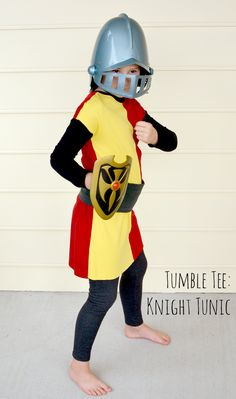 A Knight costume tunic made with the Tumble Tee pattern by Imagine Gnats - super quick and easy!