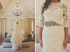 Wedding dress with lace sleeves  tealephotography.net