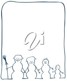 iCLIPART - Clip Art Illustration of a Family of Snowmen