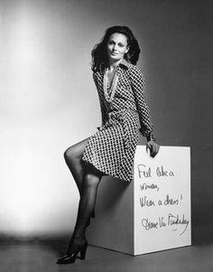 DVF iconic wrap dress