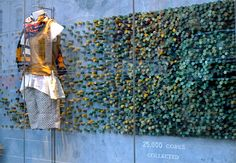 Repurposed corks in Anthropologie's April and May store windows (project w/Cork Forest Conservation Alliance)