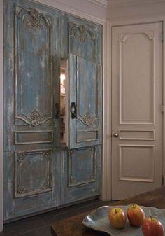 vintage doors for refrigerator front .