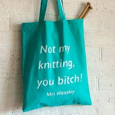 Knitting Project Bag by KellyConnorDesigns on Etsy, $21.00