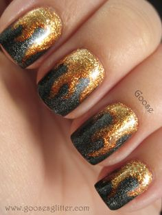 flame nails to celebrate Katniss, the girl on fire