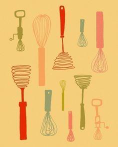 Kitchen artwork - etsy.com