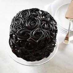 We Take the Cake Halloween Black Rose Red Velvet Cake