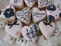 shower party, vintag parisian, shower themes, wedding showers, parisian bridal, parisian party, wedding cookies, pink parties, bridal showers