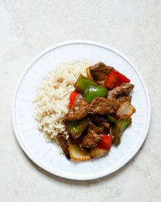 Chili Garlic Beef Stir Fry with Coconut Brown Jasmine Rice | howsweeteats.com