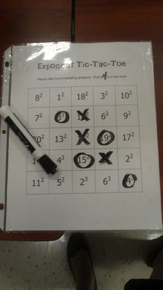 exponent tic tac toe  Miss MathDork's Math Resources: Counting on your fingers