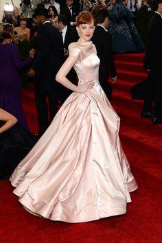 Vogue Daily — Karen Elson in a Zac Posen dress and Van Cleef & Arpels jewelry