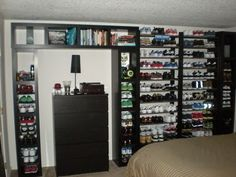 IKEA Hackers: Lack Wall of Shoe Shelves and Storage