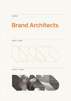 Brand Architects / Identity. By Hofstede Design.