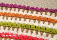 (English subtitles video tutorial: ice cream crochet stitch) Paso a paso: punto conos de helado tejido a crochet o crochet ice cream stitch