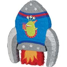 Space party alien pinata, great for games and activities