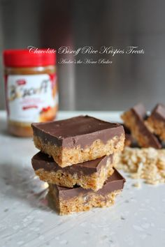 ♥ Chocolate Biscoff Rice Krispies Treats ♥