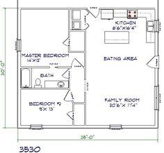 Barndominium floor plans 30x40 with 2nd floor joy studio for 30x40 barndominium floor plans