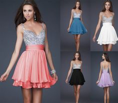 I'm in <3 with these dresses! It would be perfect to change into for the reception! So beautiful!  :)