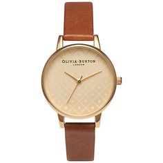 Buy Olivia Burton OB14MV05B Women's Modern Vintage Leather Strap Watch, Tan Online at johnlewis.com