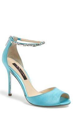 A 'something blue' shoe