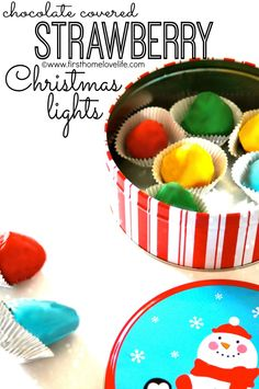 Chocolate Covered Strawberry Christmas Lights. Cool idea!