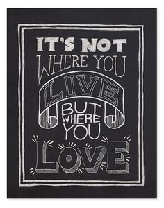 TYPOGRAPHY  Where You Love Art Print // 8 x 10 by wickedpaper on Etsy, $16.00