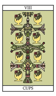 eight of cups - tarot card