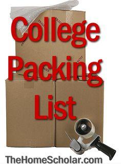 Handy College Packing List #College  @Jess Liu Watson #Homeschool